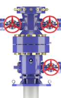 A digital rendering of frac equipment from Downing.